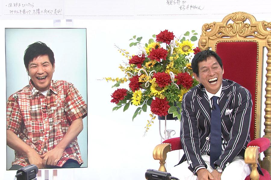 明石家さんまの誕生日のお祝いに、東京からリモート出演した関根勤(写真提供:MBS)