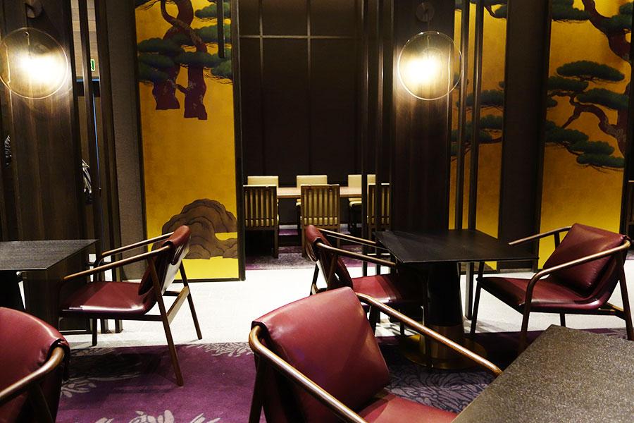 日本料理の「校倉」は個室3室あり