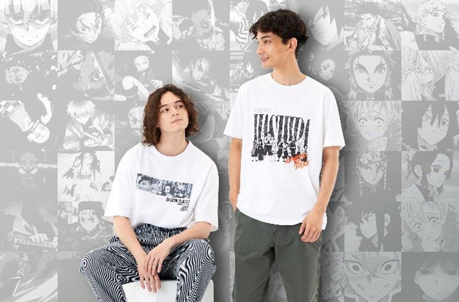 第二弾のTシャツデザイン(左:GU、右:「UT」第2弾)
