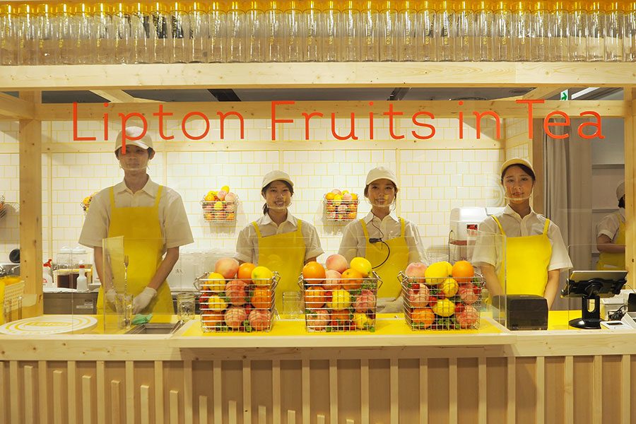 期間限定で登場する「Lipton TEA STAND Fruits in Tea」