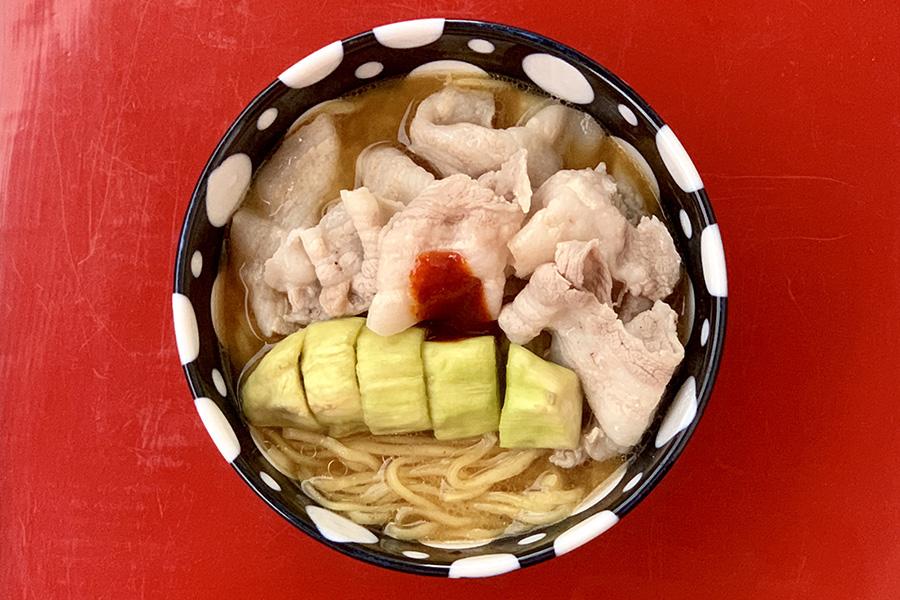 中華料理店の「ナスと豚肉の味噌炒め」をヒントにアレンジ