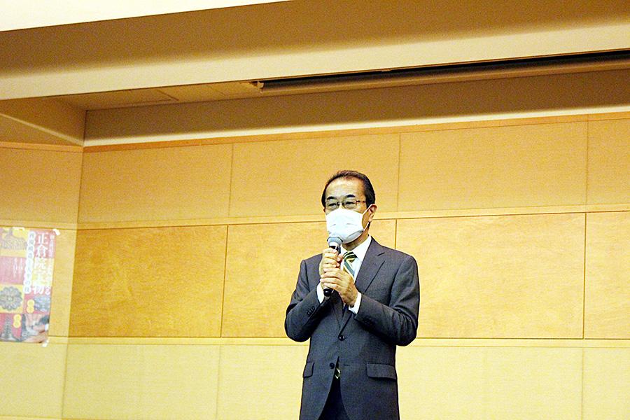 「奈良国立博物館」(奈良県奈良市)の松本伸之館長