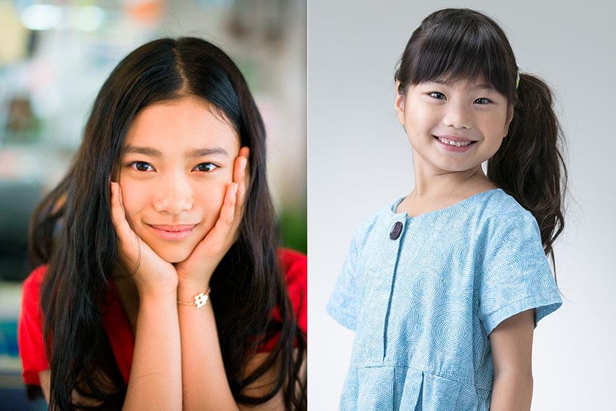 ヒロイン・竹井千代役を務める杉咲花(左)と子ども時代を演じる毎田暖乃(まいだのの) (C)NHK