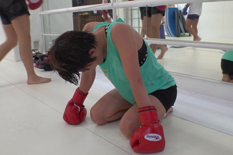自分の限界と向き合い、弱点を強化するためのトレーニングを重ねる永田(写真提供:MBS)