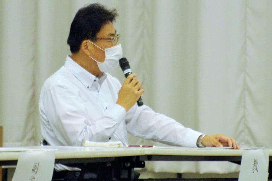 大阪府教育委員会の酒井隆行教育長(7月3日・大阪市中央区)
