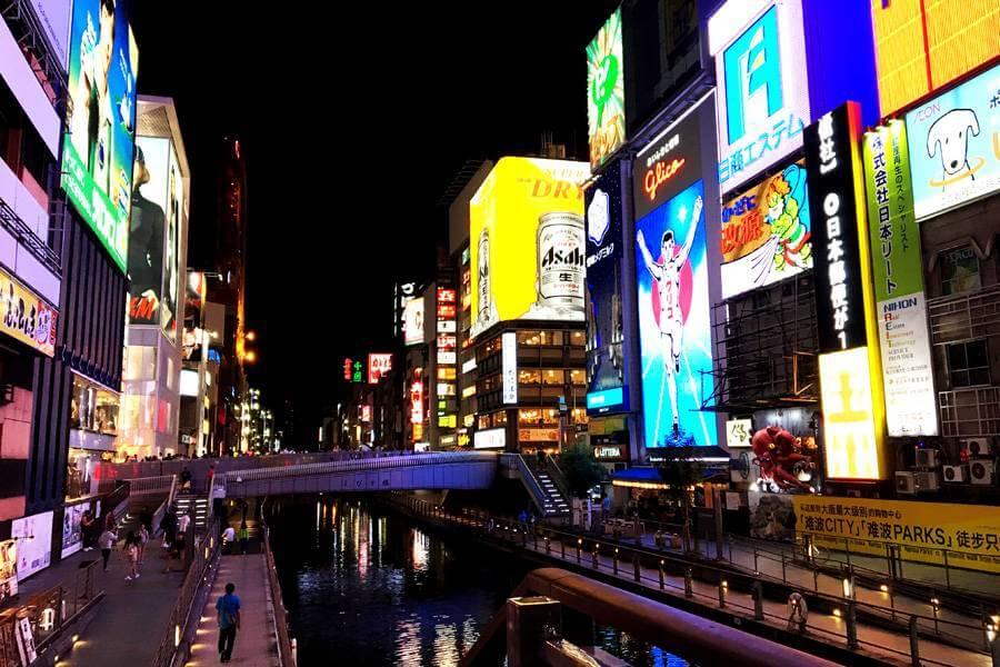 大阪ミナミを代表する繁華街・道頓堀界隈