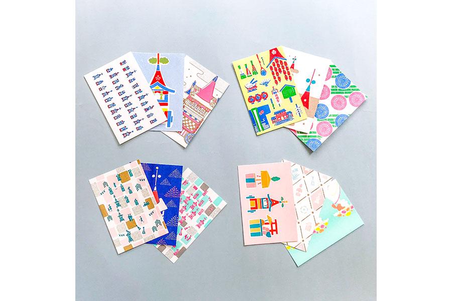 『乙女の祇園祭』ポストカードセット。右下が新作の〈かいらし〉364円(税別・3枚)