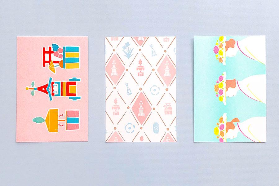 新作「ポストカードセット〈かいらし〉」(364円・税別)1組3枚入り