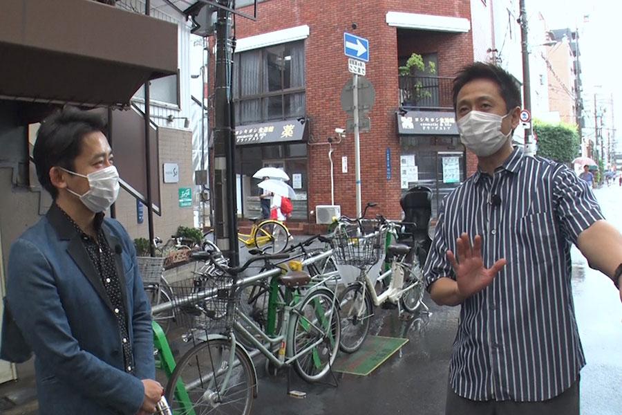 約4カ月ぶりの『ちちんぷいぷい』ロケとなったロザン(写真提供:MBS)