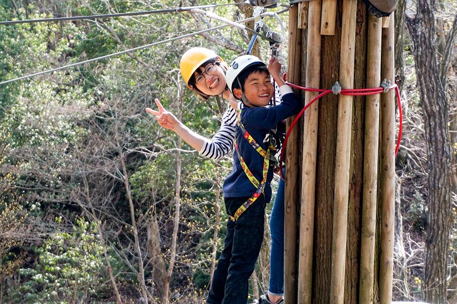 親子で一緒に挑戦し、見守りながら体験できる施設も