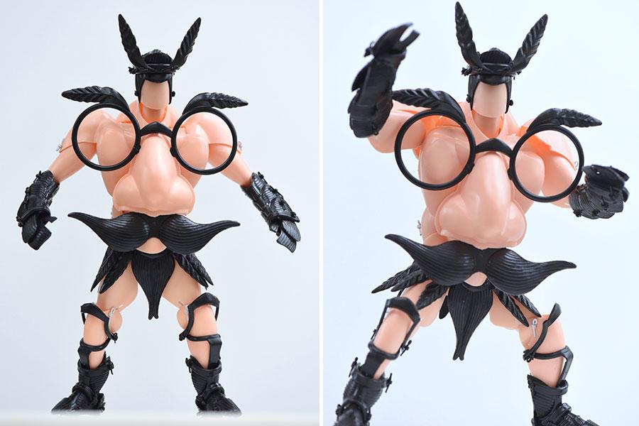 鼻メガネが筋肉ムキムキ人形に?京都・造形作家のスゴ技