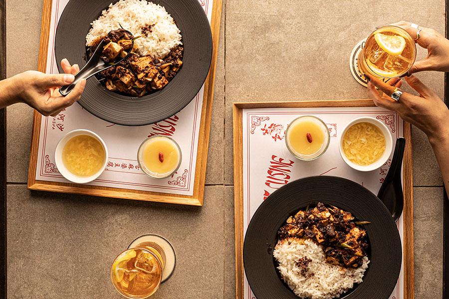 一番の人気メニューである麻婆豆腐を今回のためだけにアレンジ