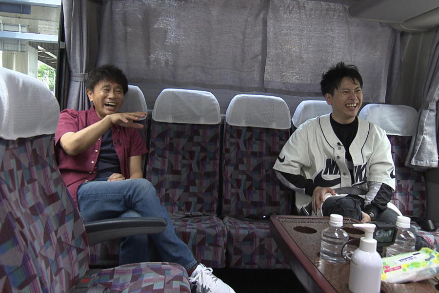 「大阪イチひびく焼肉」を求めて、バスが到着したのは大阪の新町(写真提供:MBS)