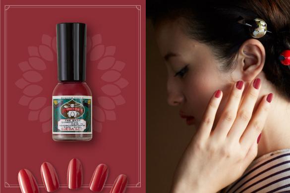 「花菊(はなぎく)」は定番の艶紅よりも深みのある大人っぽい赤色