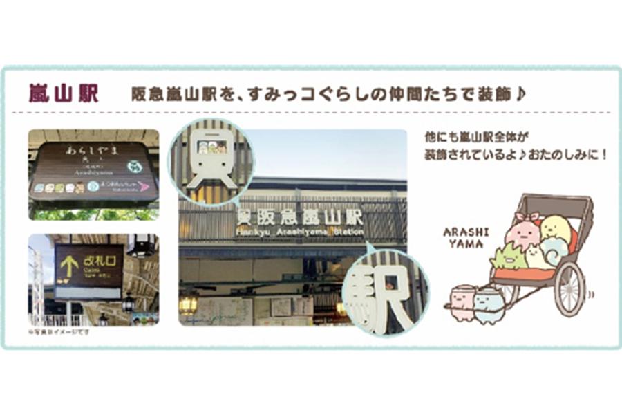 「嵐山駅」の装飾デザインイメージ