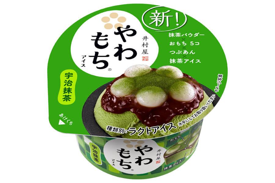 「やわもちアイス宇治抹茶」カップ140円(税別)