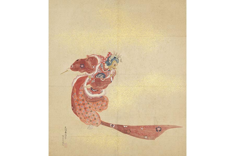 谷口香嶠《舞楽図衝立》京都府所蔵(京都文化博物館管理)