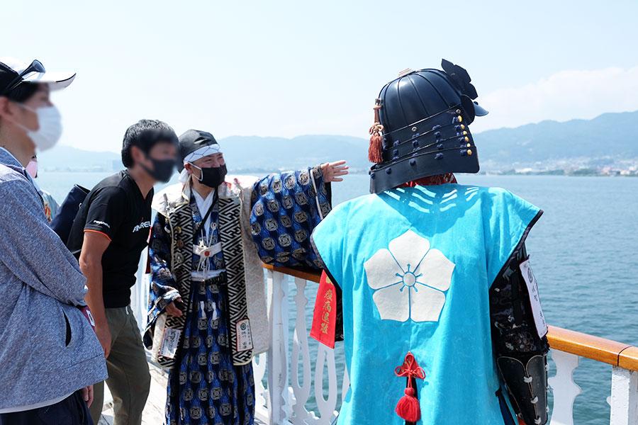明智光秀の菩提寺「西教寺」のある坂本について語る武将の皆さん