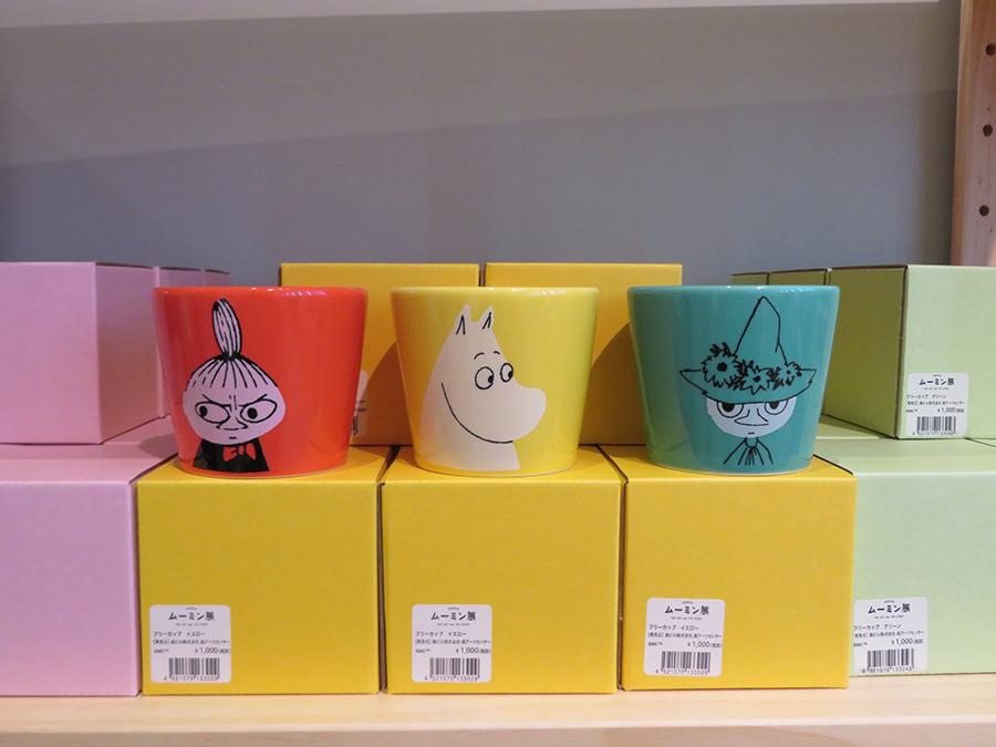 フリーカップ(税込1100円)は、ムーミン、リトルミイ、スナフキンの3種類