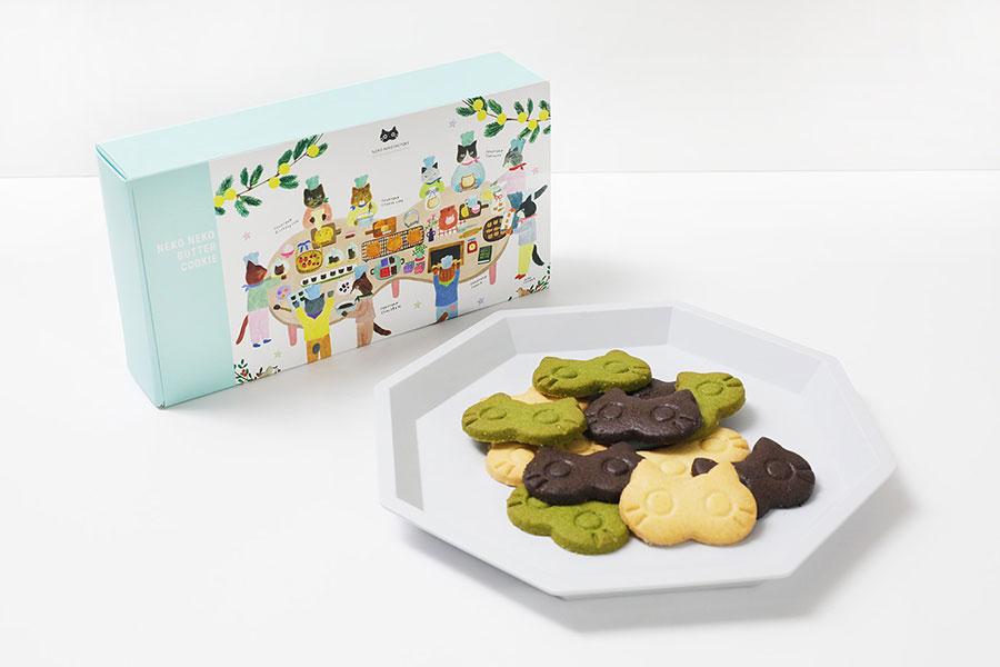 「ねこねこバタークッキー」(1箱15枚入・1200円)