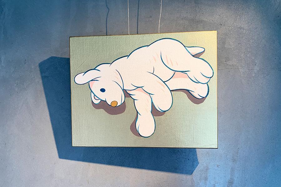 IKEAのぬいぐるみをモチーフにした作品は、Ygionで展示