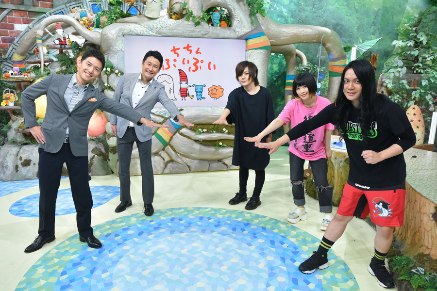 左から山中真、河田直也(MBSアナウンサー)、こやまたくや、しばたありぼぼ、もりもりもと(ヤバイTシャツ屋さん)写真提供:MBS