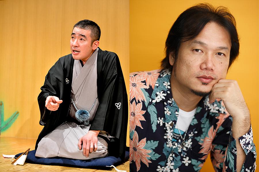 スペシャルトークを披露する落語家・桂雀太(左)と、「FM COOLO」DJ・加美幸伸