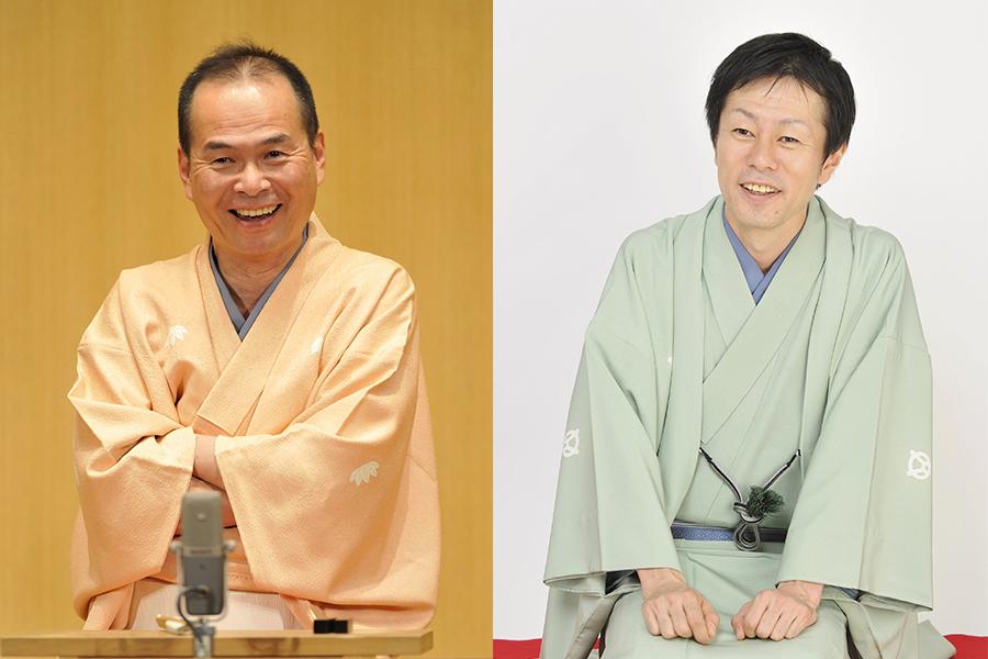 落語家・笑福亭仁智(左)、林家染雀