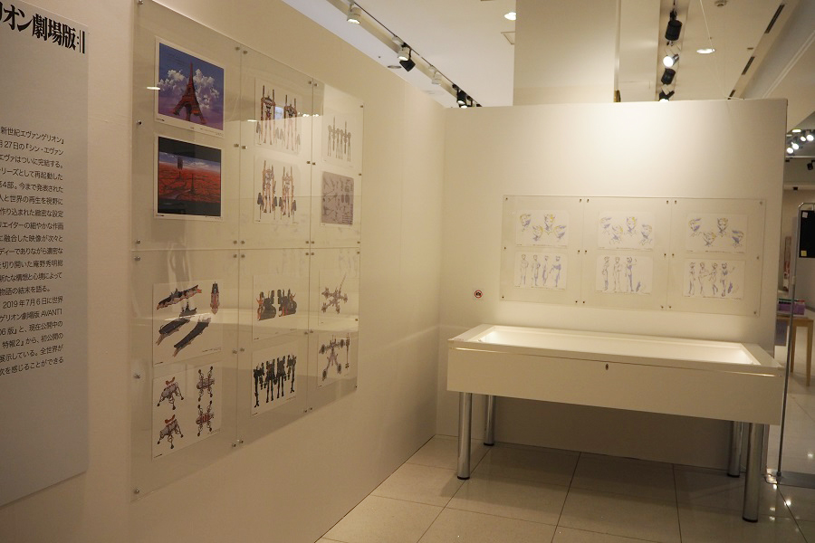 最終作『シン・エヴァンゲリオン劇場版』の公開に先駆け、新たに同作品の複製原画や資料も展示 (C)カラー