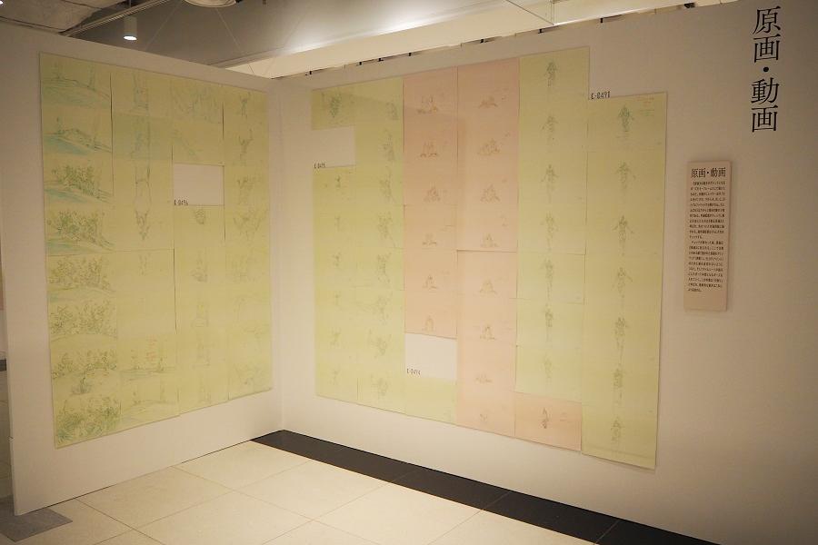原画・動画の展示では、細やかな修正過程を鑑賞できる (C)カラー