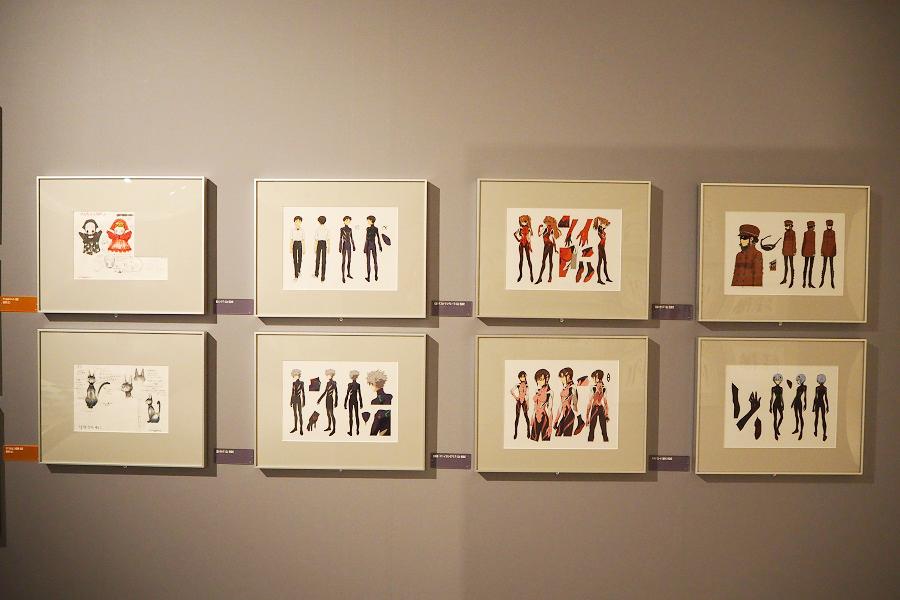 キャラクターの足の裏や、服装の素材など、細かく決められている「設定」コーナー(C)カラー