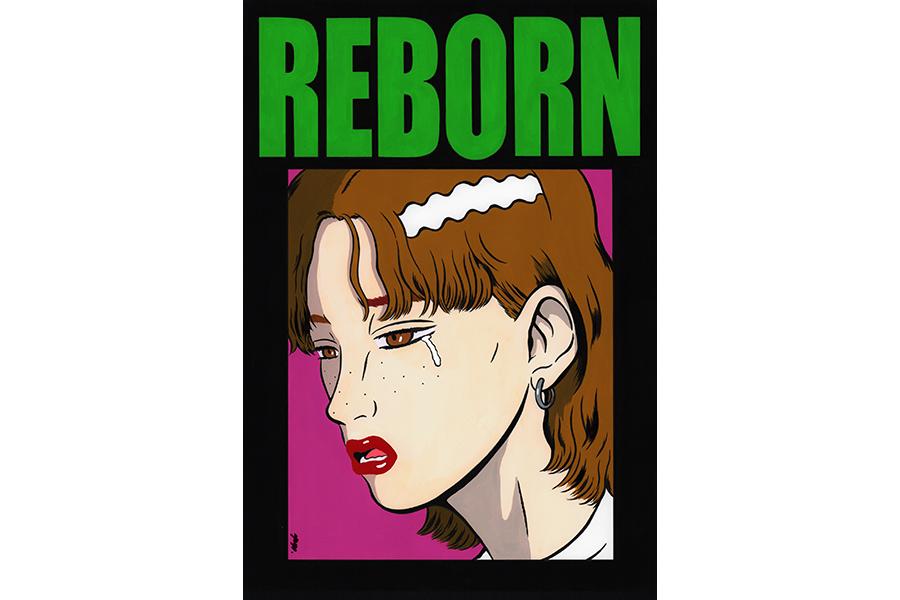 YUGO.《REBORN》2020年 アクリル絵具、油性ペン