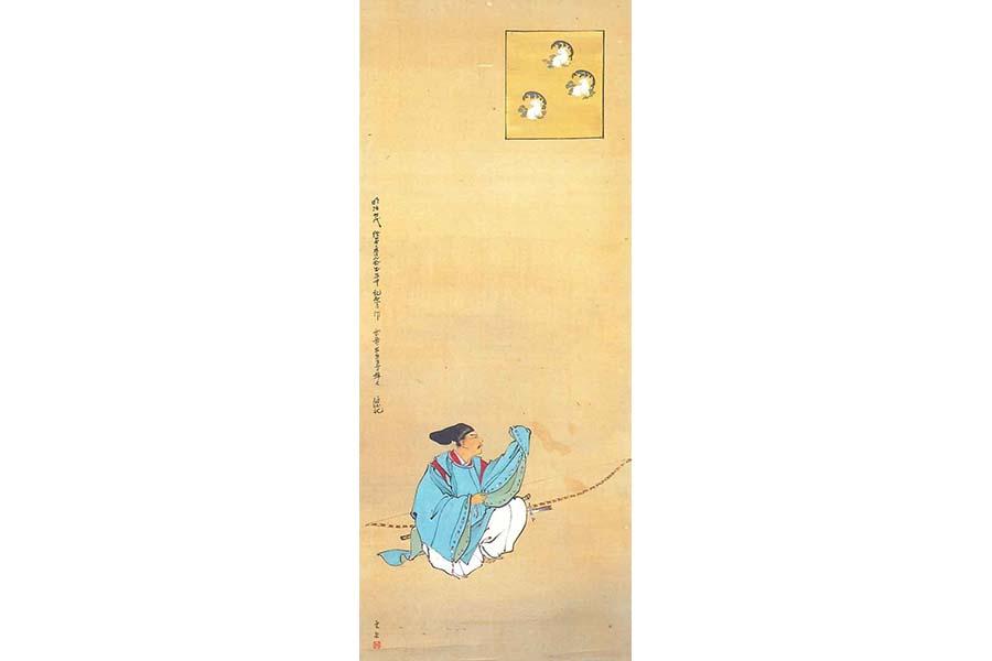 《源三位頼政像》 絹本着色 1895~97(明治28~30)年 個人蔵