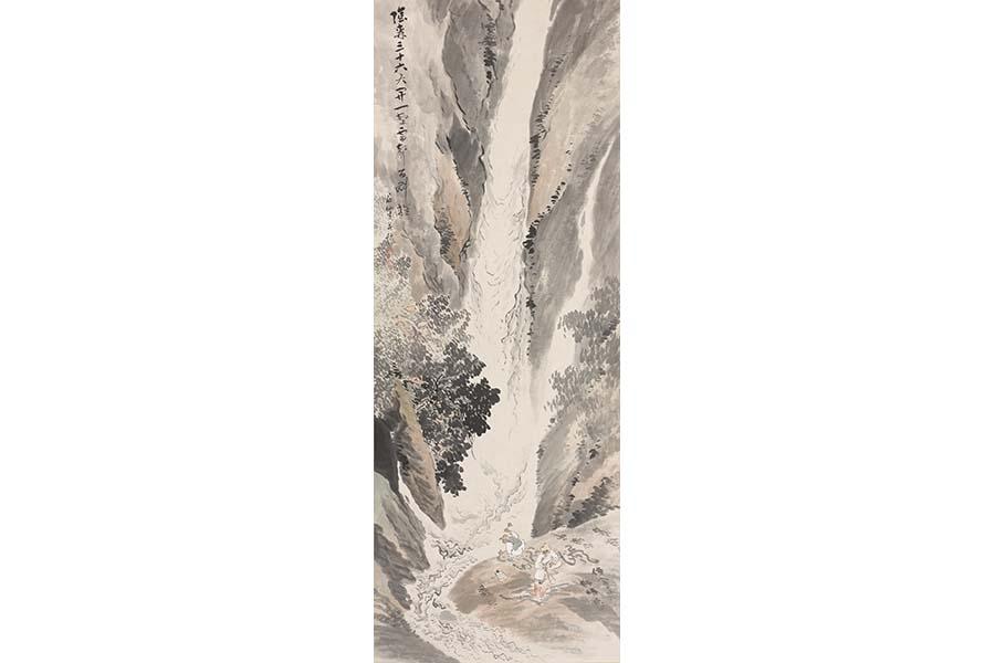 《九龍古潭之図》 紙本墨画淡彩 制作年不詳 姫路市立美術館蔵