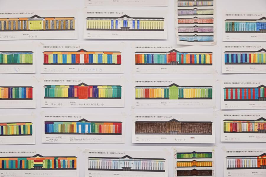 老若男女の市民デザイナーが「Open My Color」をテーマに考案したカラーリングが、髙橋匡太によりアレンジされ建物に映し出される