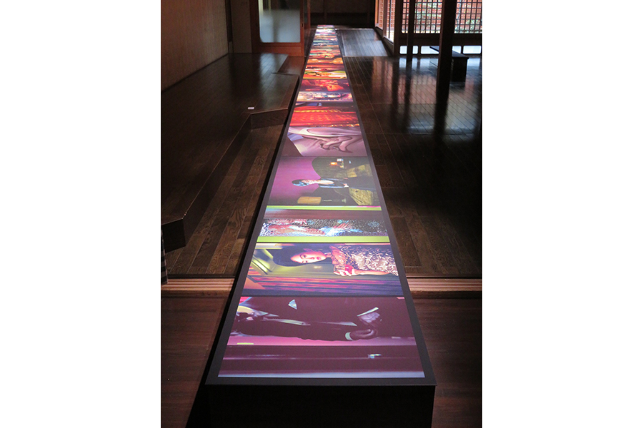 誉田屋源兵衛 竹院の間でのウィン・シャの展示