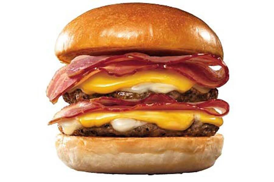 『ロッテリア29肉(ニク)の日』企画に登場する『ダブルベーコンダブル絶品チーズバーガー』