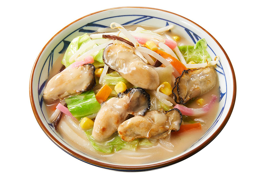 丸亀製麺「牡蠣ちゃんぽんうどん」(並)750円