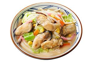 丸亀のちゃんぽんうどん、プリプリ牡蠣に「汁、全部飲んだ」
