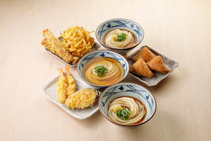 丸亀製麺「打ち立てセット3人前」1500円