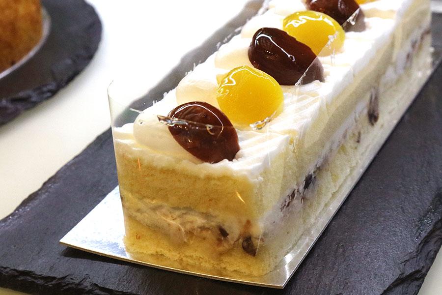 上品な甘さとふわふわのスポンジがよく合う「栗のショートケーキ」