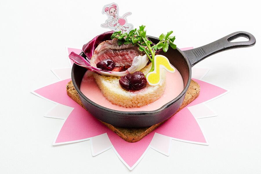 「どれみのステーキチーズドリア~チェリーのソース~」(1699円)