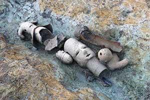 捨てられたのか?世界遺産古墳群の溝に埴輪、一般公開は未定