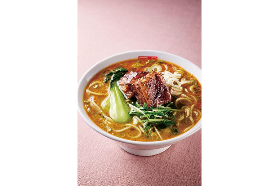 大阪産・水菜を使った「四川辣麺」の白担(870円)