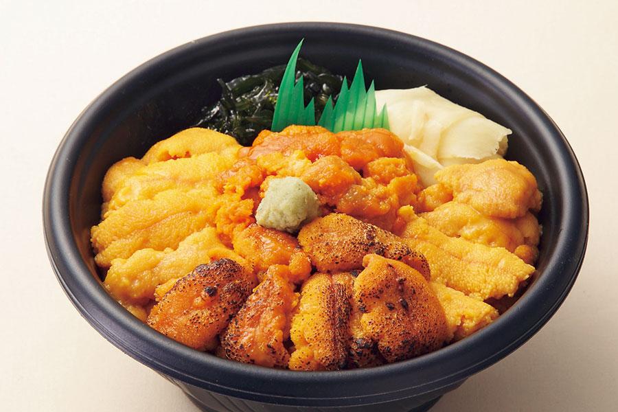 大阪店で、10月7日から13日に登場する「うに乃世壱屋」の雲丹4種食べ比べ3780円。各日50食限定
