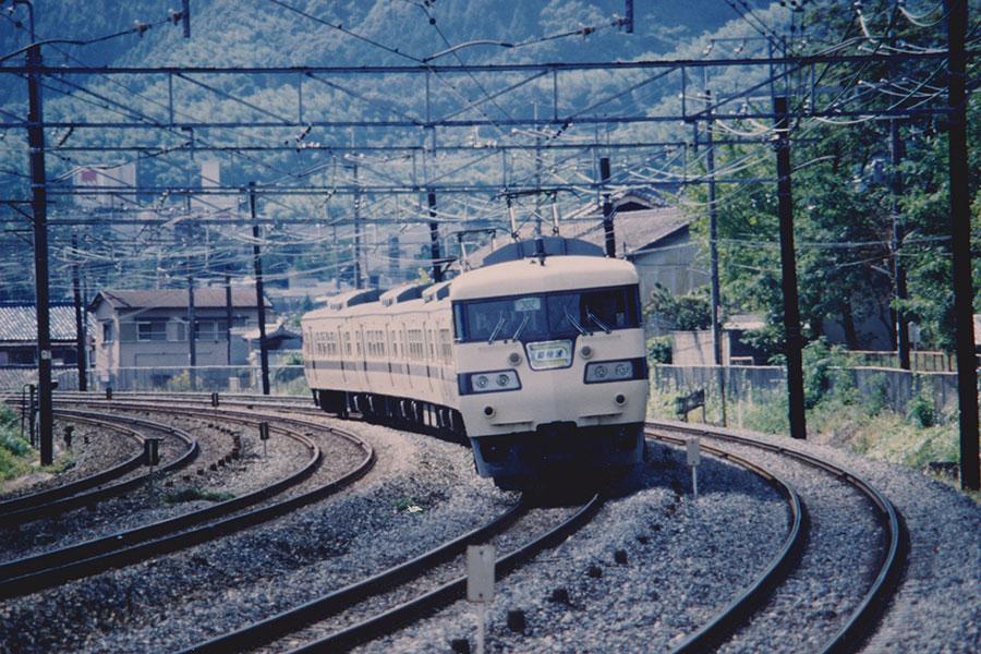 昭和60年に撮影された117系新快速 提供:京都鉄道博物館