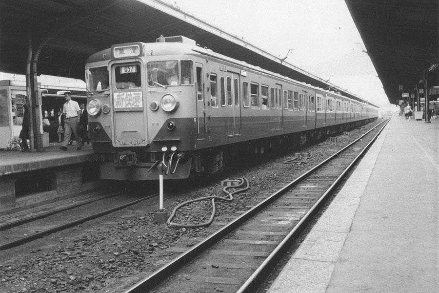 京都〜西明石で走行を開始した初代113系 提供:京都鉄道博物館