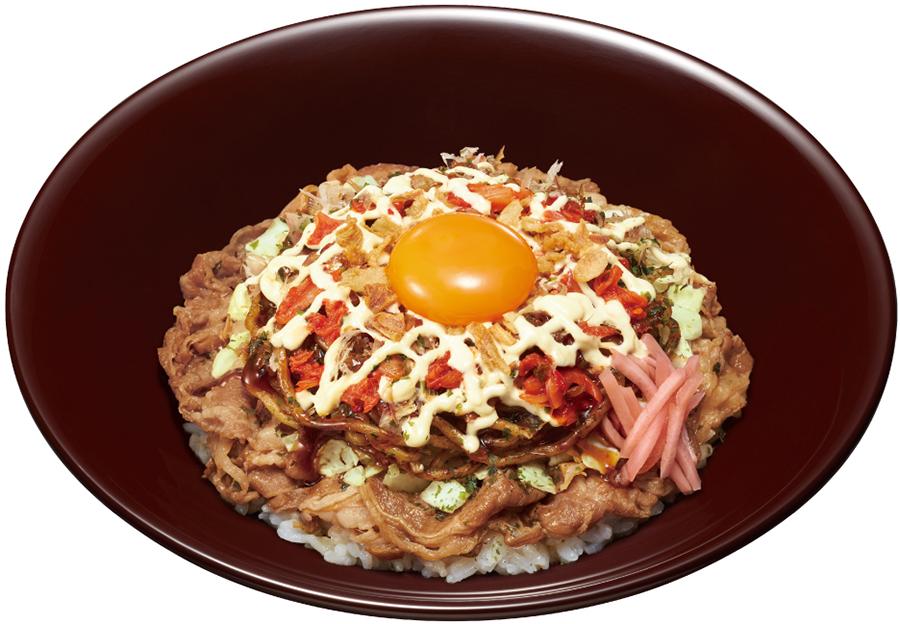 すき家「お好み牛玉丼 広島Mix」並盛680円