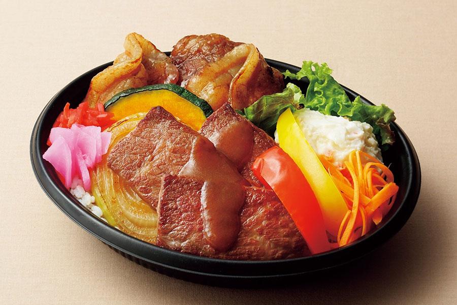 京都店に10月7日から13日に登場する「ランチョ・エルパソ」。十勝産和牛と「どろぶた」食べ比べ弁当2280円。各日30食限定