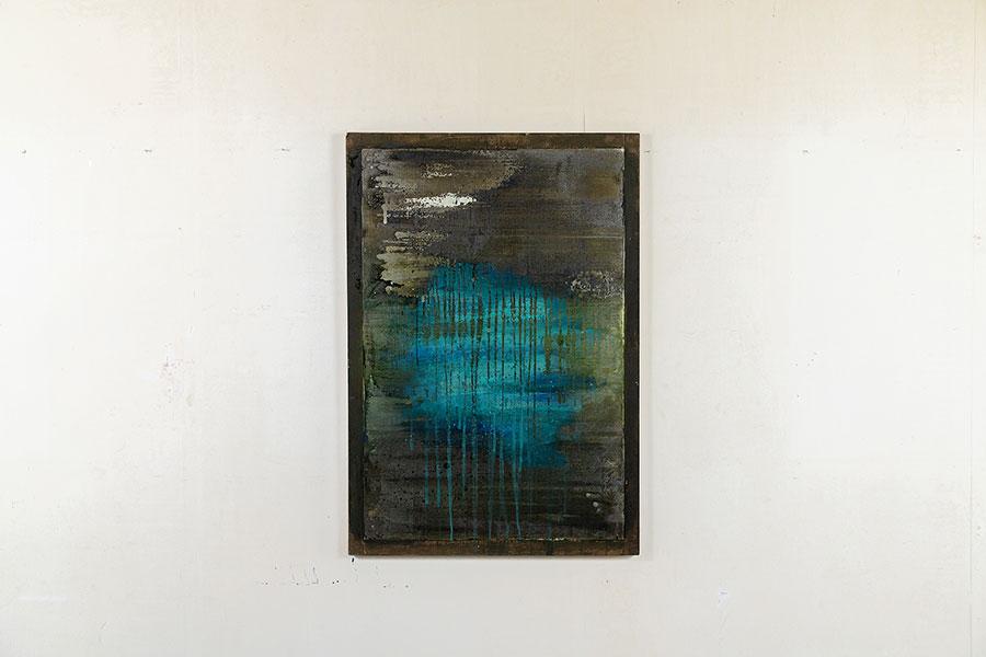 発表するつもりはなく描き続け、副住職の伊藤氏が心惹かれた清濁シリーズより、「清濁の窓」